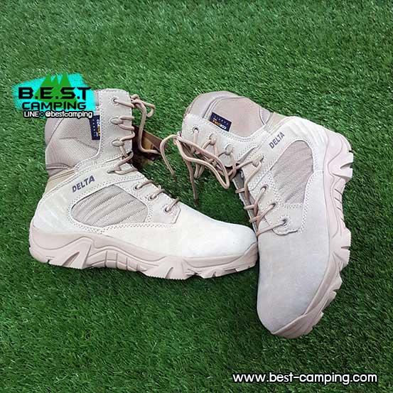 รองเท้า DELTA TACTICAL BOOTS DESERT HI ZIPPER รองเท้าเดลต้า,tactical