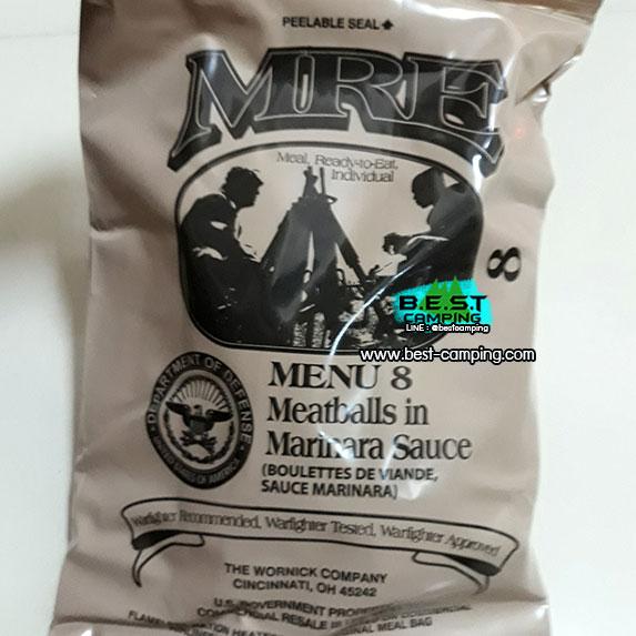 Menu8,Meatballs in Marinara Sauce,อาหารเดินป๋า,อาหารทหาร,อาหารฉุกเฉิน