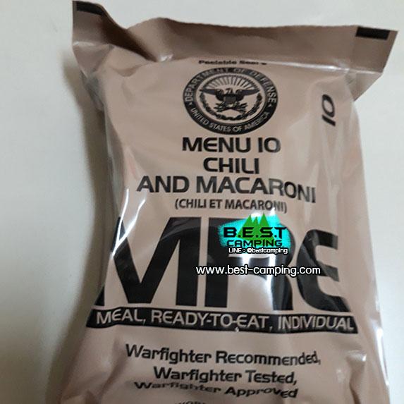 Menu10 Chili and Macaroni,อาหารเดินป๋า,อาหารทหาร,อาหารฉุกเฉิน