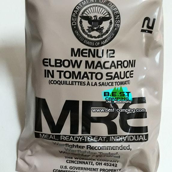 Menu12,Elbow macaroni in tomato sauce,,อาหารเดินป๋า,อาหารทหาร,อาหารฉุกเฉิน