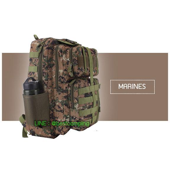 เป้ทหาร 3PNEW,40L,กระเป๋าเป้เดินทางท่องเที่ยว,ลายพราง,ลายดิจิตอลมารีน