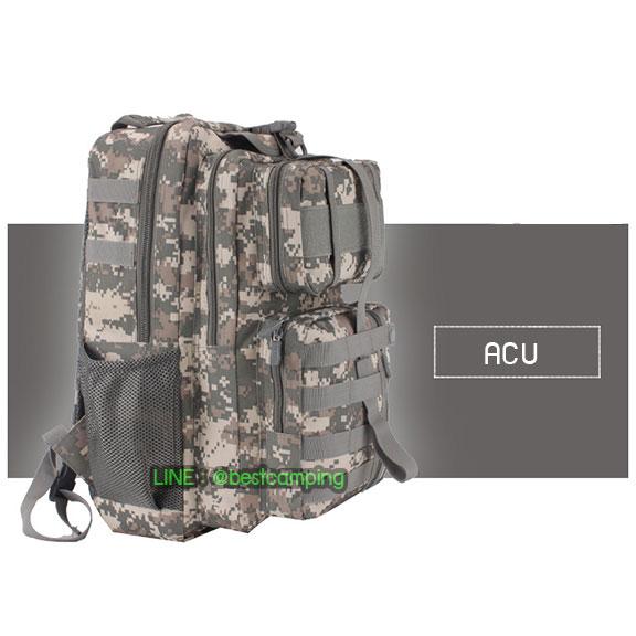 เป้ทหาร 3PNEW,40L,กระเป๋าเป้เดินทางท่องเที่ยว,ลายพราง,ลายดิจิตอลACU