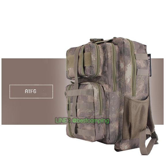 เป้ทหาร 3PNEW,40L,กระเป๋าเป้เดินทางท่องเที่ยว,ลายพราง,ลายพราง ATFG