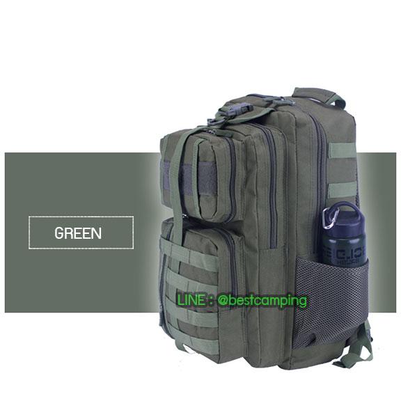 เป้ทหาร 3PNEW,40L,กระเป๋าเป้เดินทางท่องเที่ยว,สีเขียว,GREEN