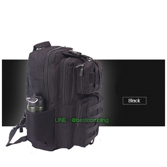 เป้ทหาร 3PNEW,40L,กระเป๋าเป้เดินทางท่องเที่ยว,สีดำ,BLACK