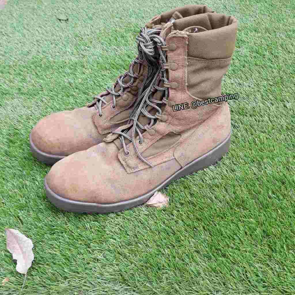 รองเท้าจังเกิ้ลสีน้ำตาล Usmc,โรเสริท์,Vibram(มือสอง)