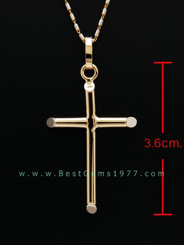 จี้ไม้กางเขนทอง18K(750) งานอิตาลี ขนาดสูงไม่รวมห่วง 3.6ซม.