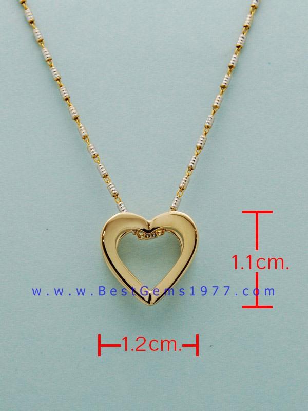จี้หัวใจทอง18K(750) ขนาดสูง 1.1ซม. กว้าง 1.2ซม.