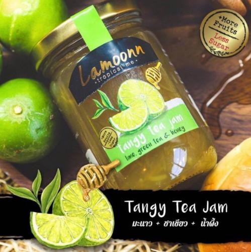 Tangy Tea Jam - แยมมะนาว+ชาเขียว+น้ำผึ้ง (240g) **Low Sugar**