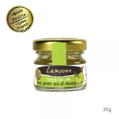 Tangy Tea Jam - แยมมะนาว+ชาเขียว+น้ำผึ้ง (30g) **Low Sugar**