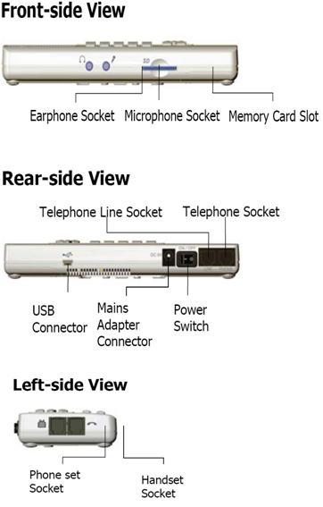 Multisuns TCR2000 บันทึกเสียงขนาด 1 CH 4