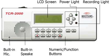 Multisuns TCR2000 บันทึกเสียงขนาด 1 CH 2