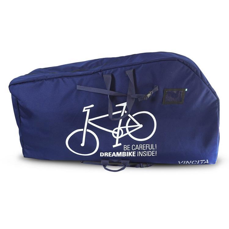 กระเป๋าใส่จักรยาน VINCITA B140AX มีช่องใส่ล้อ ถอดล้อหน้าล้อเดียว สีน้ำเงิน