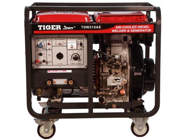 เครื่องปั่นไฟพร้อมเชื่อมในตัว TIGER รุ่น TDW-210AE