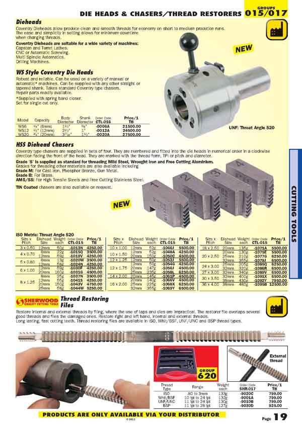 เครื่องมือช่างหมวด SHEET and TUBE DRILLS / COUNTERSINKS หน้า 19