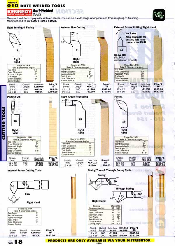 เครื่องมือช่างหมวด BUTT WELDED TOOLS หน้า 18