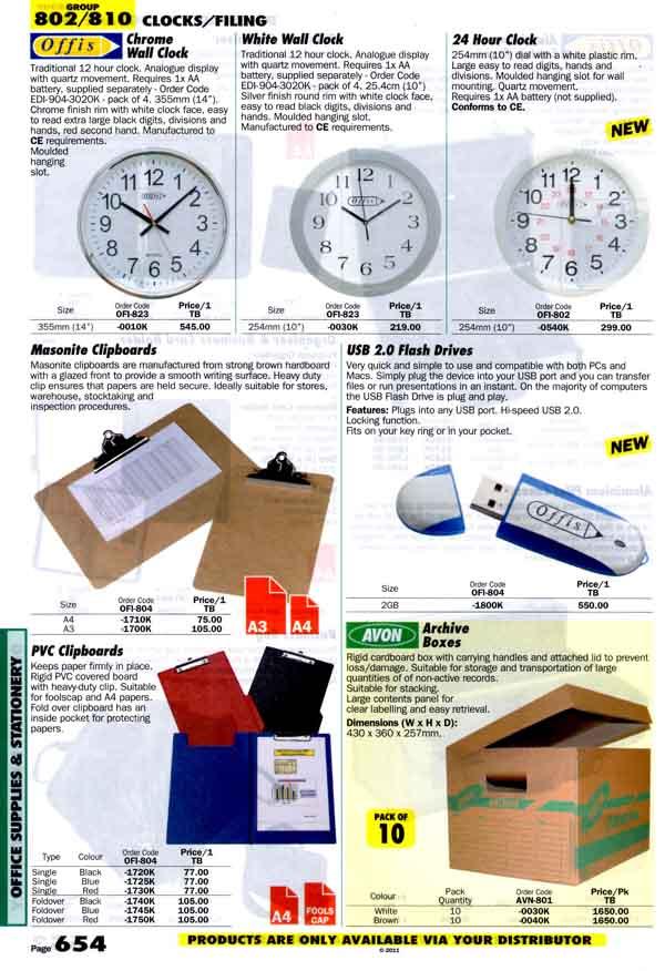เครื่องมือช่างหมวด CLOCKS/FILING หน้า 654