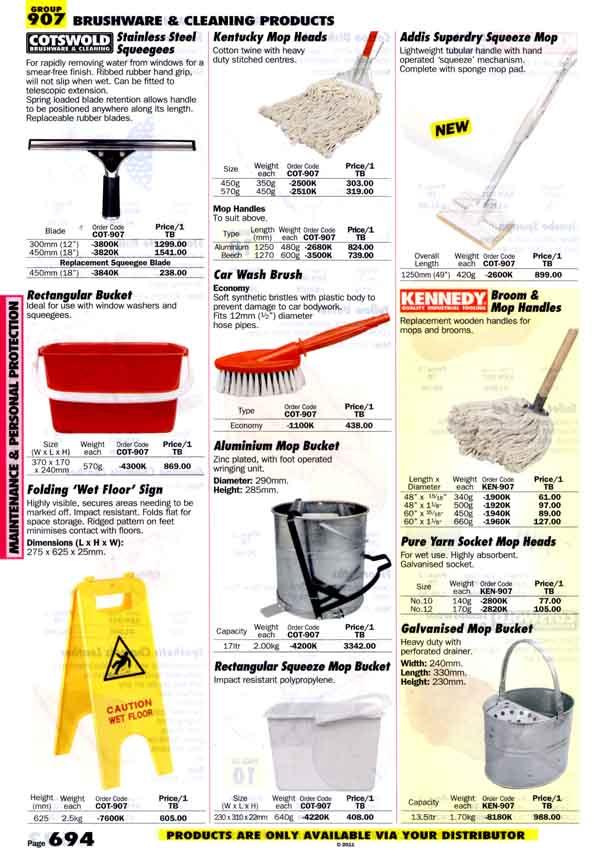 เครื่องมือช่างหมวด BRUSHWARE and CLEANING PRODUCTS หน้า 694