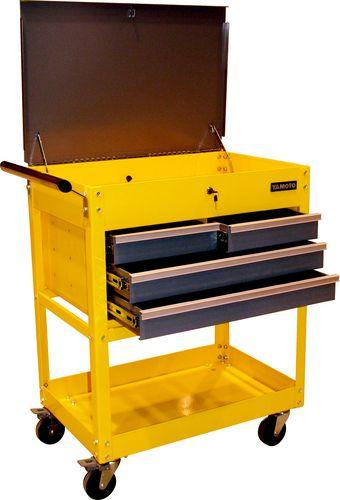 ตู้เครื่องมือช่าง สีเหลือง มีล้อ 2040K