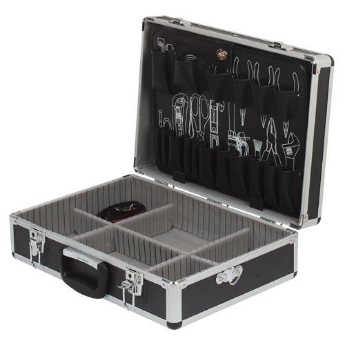 กระเป๋าเครื่องมือช่างอลูมิเนียมสีดำ