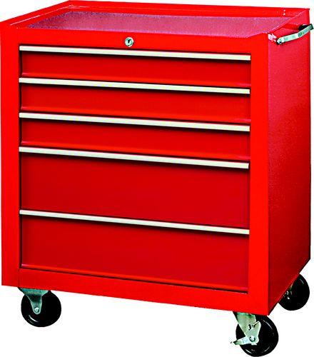ตู้เครื่องมือช่าง 5ลิ้นชัก มีล้อ สีแดง