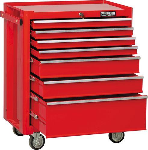 ตู้เครื่องมือช่างสีแดงมีล้อ 7ลิ้นชัก 0580K