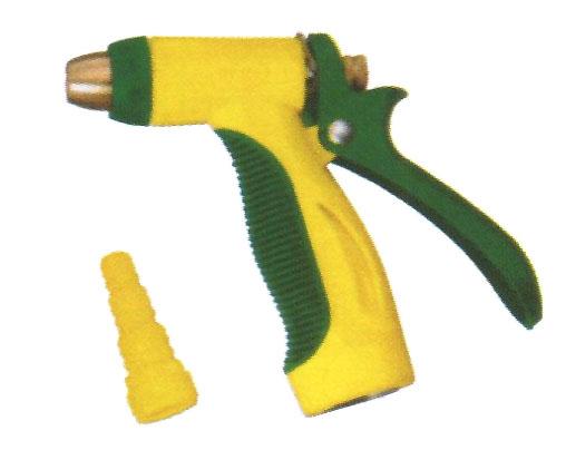 ปืนฉีดน้ำพลาสติกหัวทองเหลือง 007181