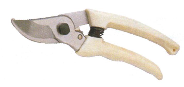 กรรไกรตัดกิ่งปากโค้ง ด้ามขาว 007186