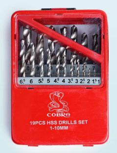 ชุดดอกสว่านเจาะเหล็กตัวสีเงิน HSS COBRA 008251