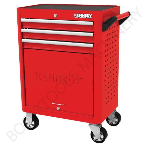 ตู้เครื่องมือช่างสีแดงมีล้อ 3ลิ้นชัก KENNEDY 2020K