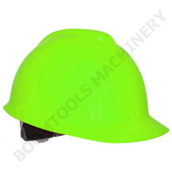 หมวกนิรภัยสีเขียวนีออน 004473