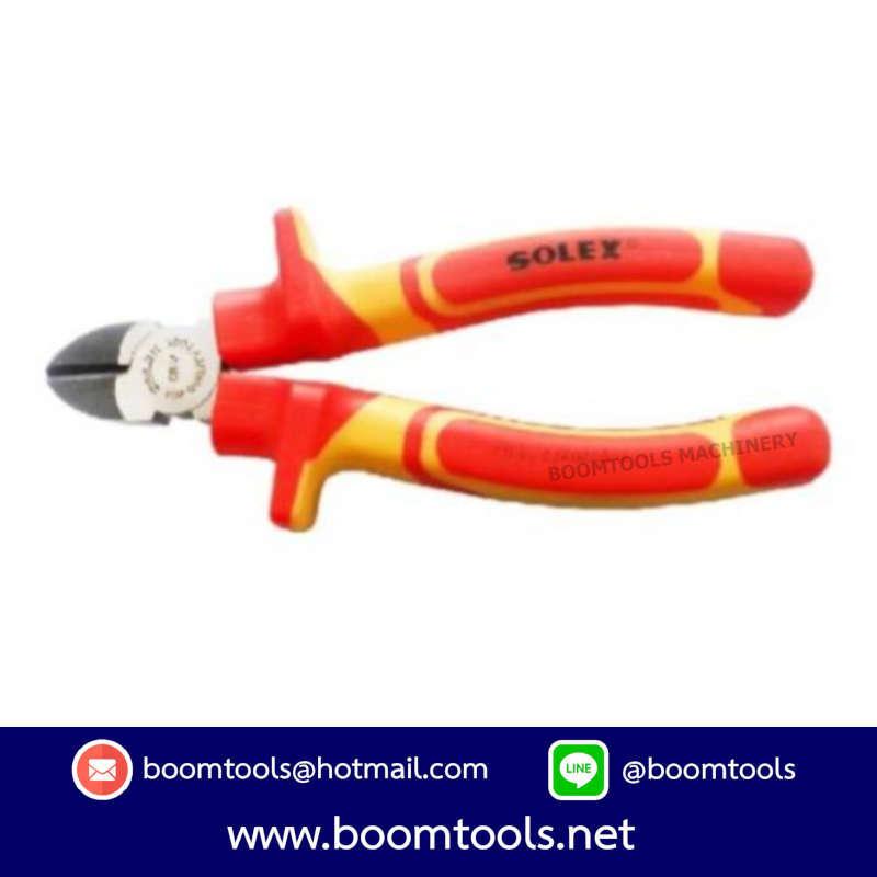 คีมปากตัด VDE 6นิ้ว SOLEX 012213
