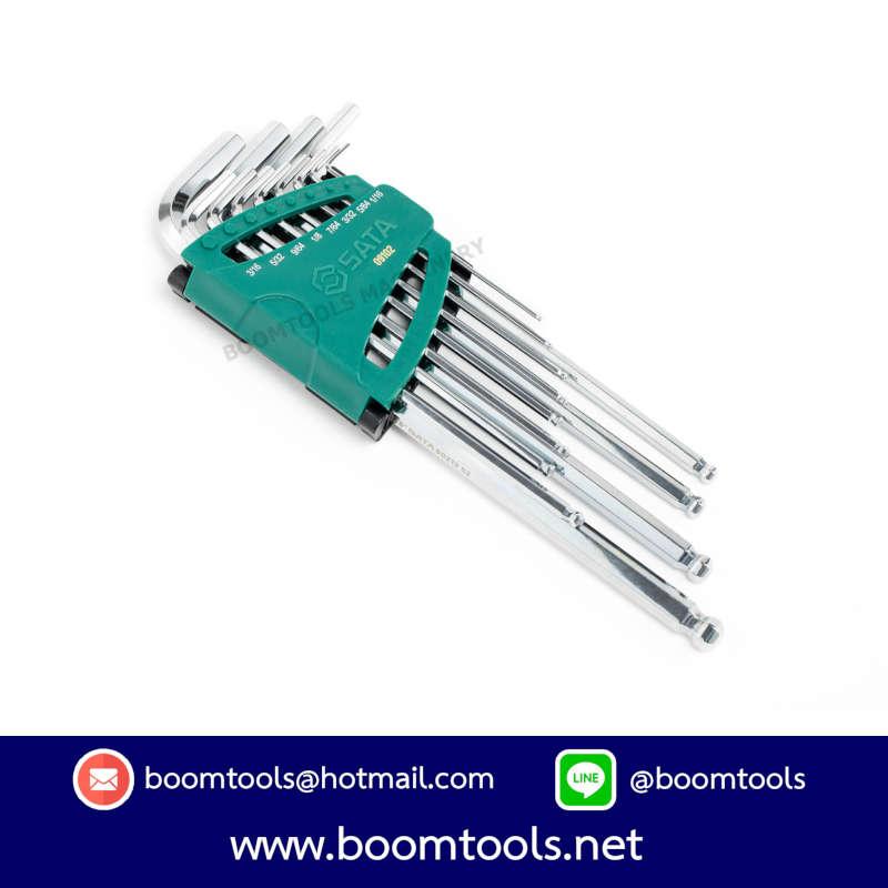 ชุดประแจแอลหัวบอลยาวพิเศษ 12ชิ้น (S.A.E.) SATA 012255