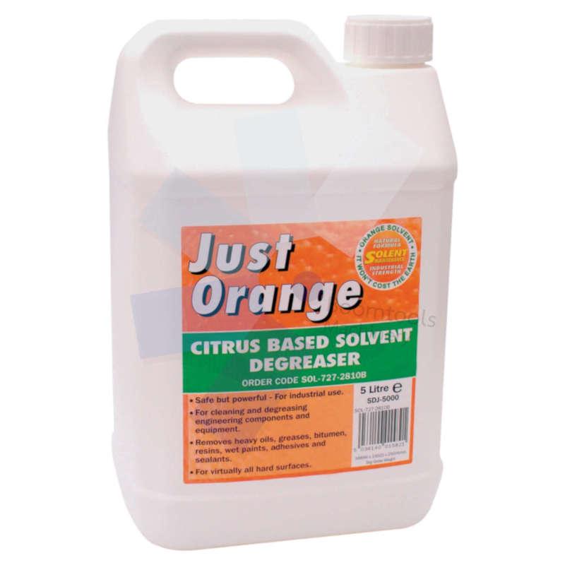 Solent Maintenance.Just Orange Citrus Solvent Degreaser - 5 Litre