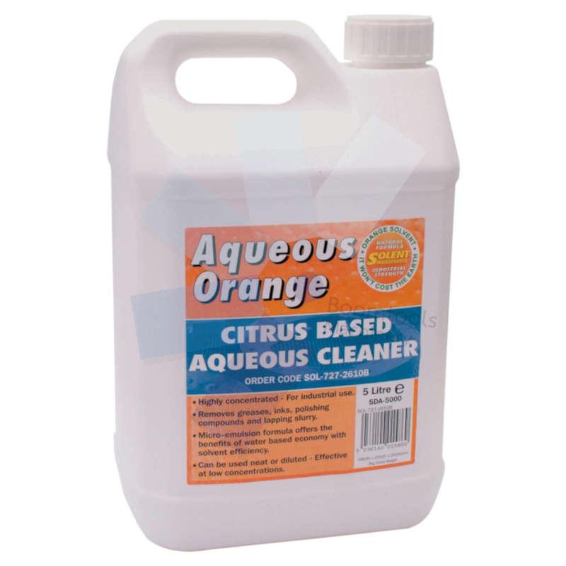 Solent Maintenance.Aqueous Orange Cleaner - 5 Litre