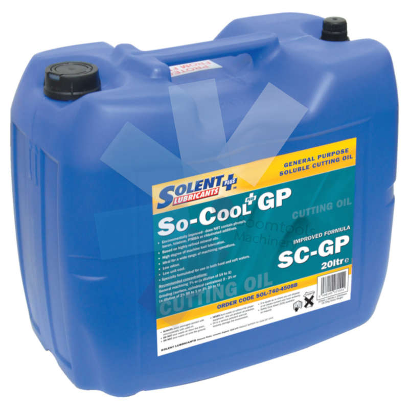 Solent Lubricants Plus.So-Cool General Purpose Soluble Cutting Oil 20ltr