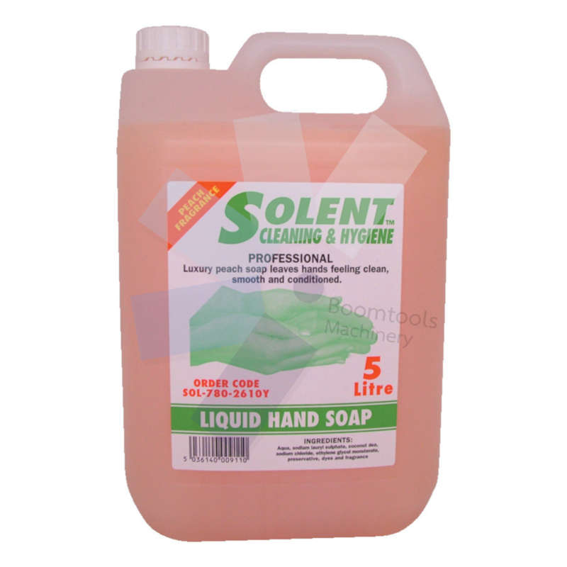 Solent Cleaning.Luxury Peach Soap, 5ltr