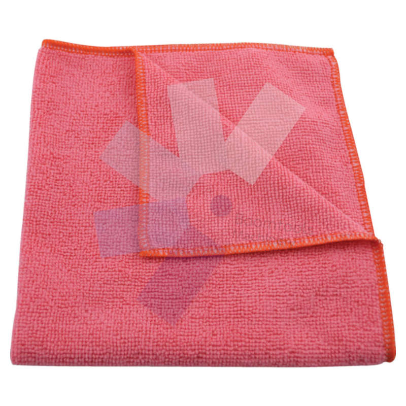Cotswold.40x40cm Premium Red/Pink Micro Fibre Cloth 56G - Pack of 5