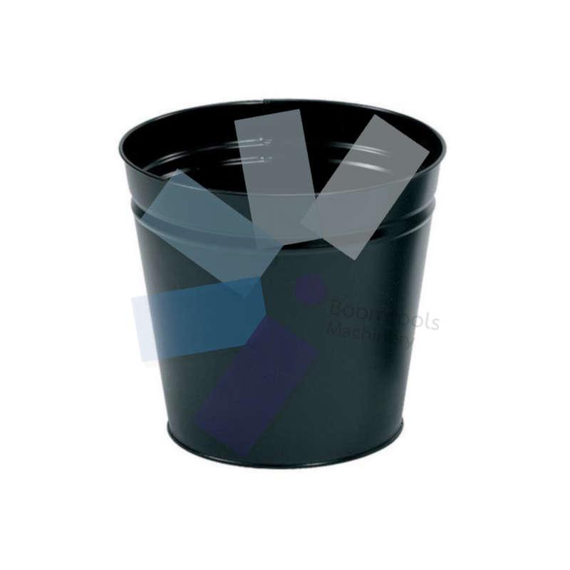 Offis.Metal Waste Bin, Black, 15ltr