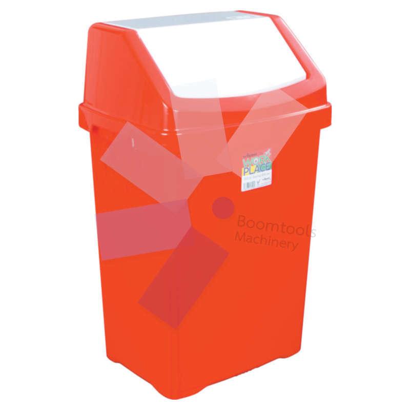 Offis.Red Swing Bin - 50 Litre