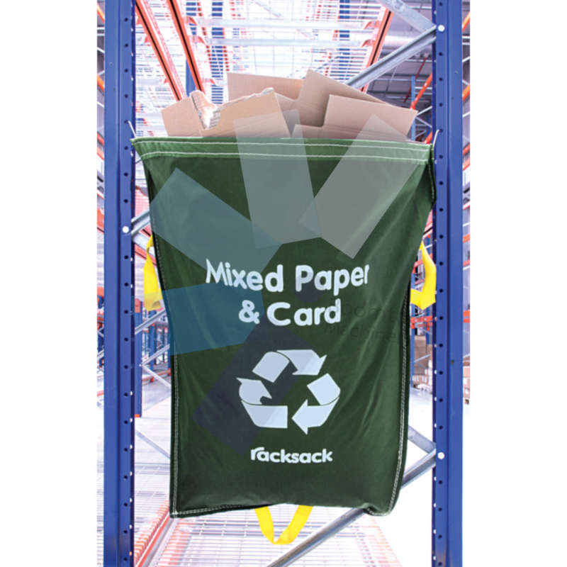 Avon.RACKING WASTE SACK MIXED PAPER AND CARD GREEN