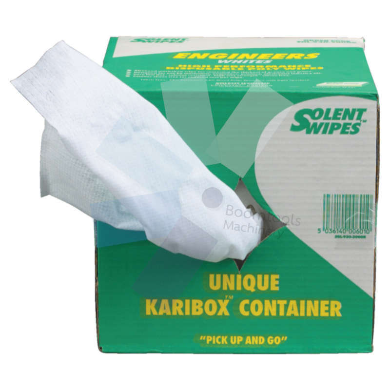 Solent Cleaning.Engineers White Wipes - Pack of 250