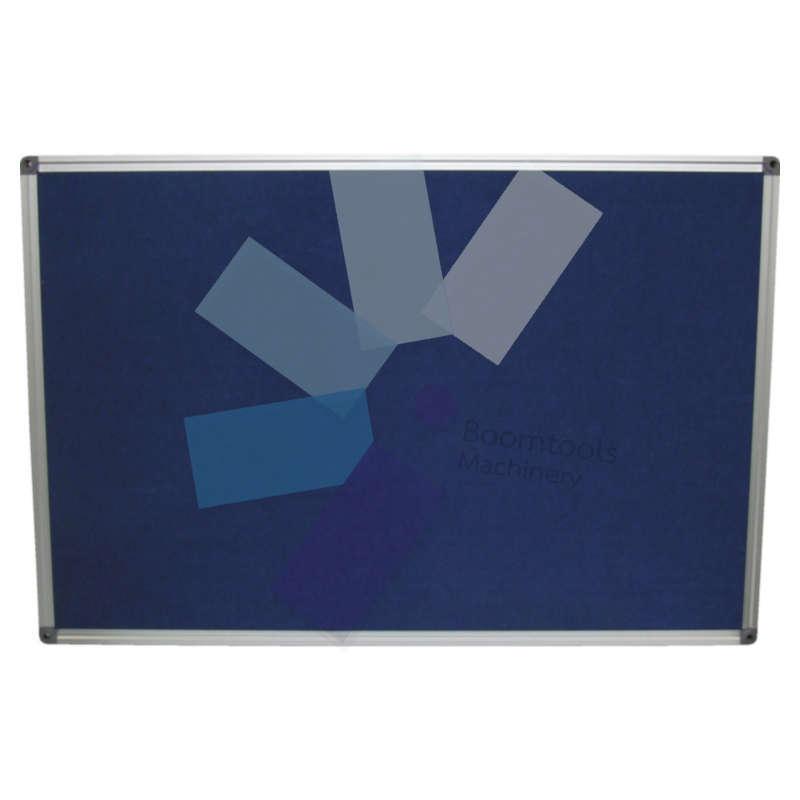 Offis.FELT NOTICE BOARD 900x600 mm BLUE ALUMINIUM TRIM