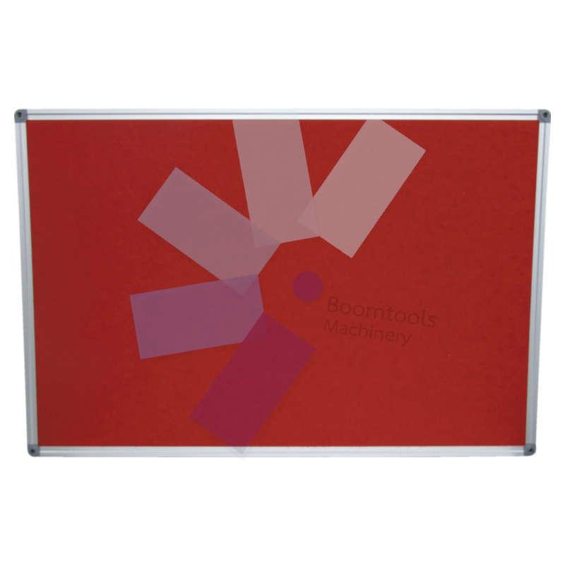 Offis.FELT NOTICE BOARD 900x600 mm RED ALUMINIUM TRIM