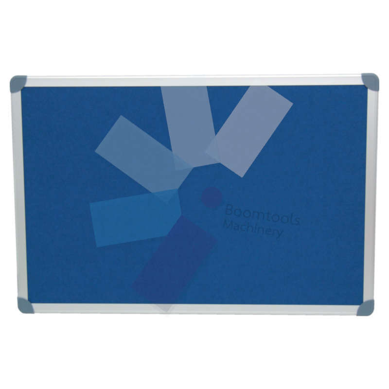 Offis.EXECUTIVE FELT NOTICE BOARD 900x600mm BLUE/AL TRIM
