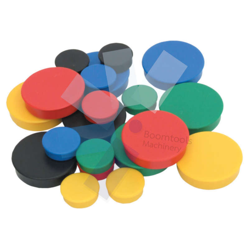 Offis.35mm WHITEBOARD MAGNETS ASSORTED COLOURS (PK-10)