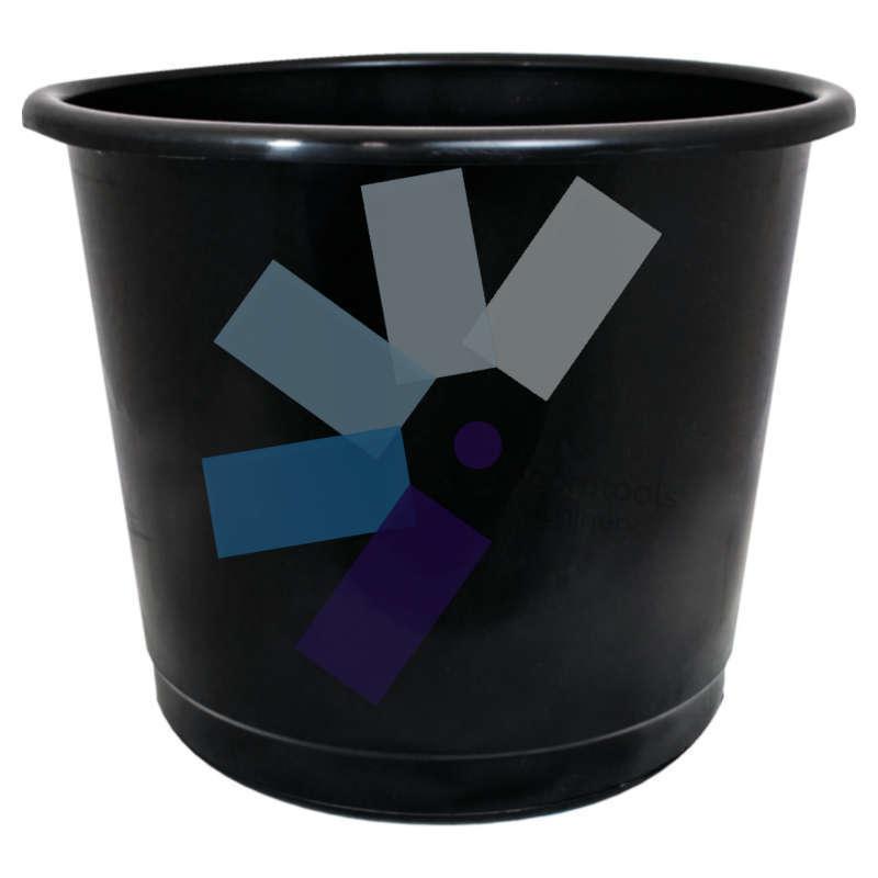 Offis.Plastic Black Waste Bin - 14 Litre