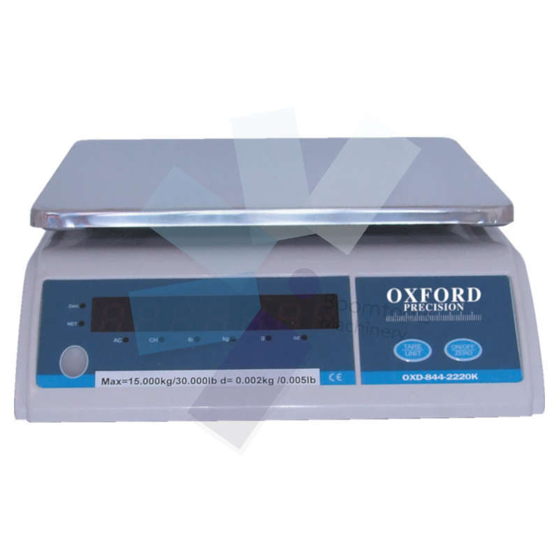 Oxford.ELECTRONIC WEIGHING SCALE 15KG - 2g DIVISIONS