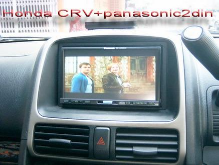 HONDA CRVติดตั้งจอดีวีดี2DIN PANASONICติดตั้งเข้ารูปแบบตัวโรงงาน
