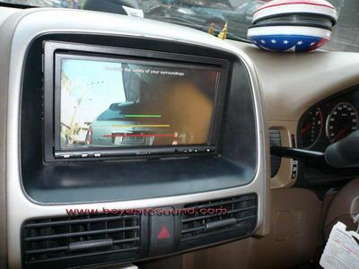 HONDA CRVติดตั้งจอดีวีดี2DIN sonyพร้อมฟังก์ชั่นกล้องถอยหลังแบบตัวนอกเหนือชั้น